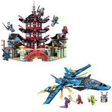 Ninjaed Storm Fighter модель строительные блоки Совместимость Legoinglys Ninjagoed Jie Warplane рыцарские фигуры игрушки для детей Подарки