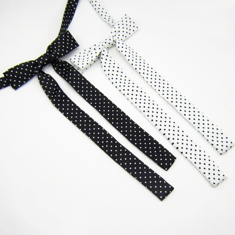 New Fashion Women Girls Cute Party Adjustable Bow Neck Tie Retail Plain Satin Student  Dot Point Butterfly