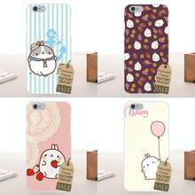 Tpwxnx pour Apple iPhone X 4 4 S 5 5C SE 6 6 S 7 8 Plus pour LG G4 G5 G6 K4 K7 K8 K10 impression d'art doux drôle Molang mignon Swag Kawaii(China)