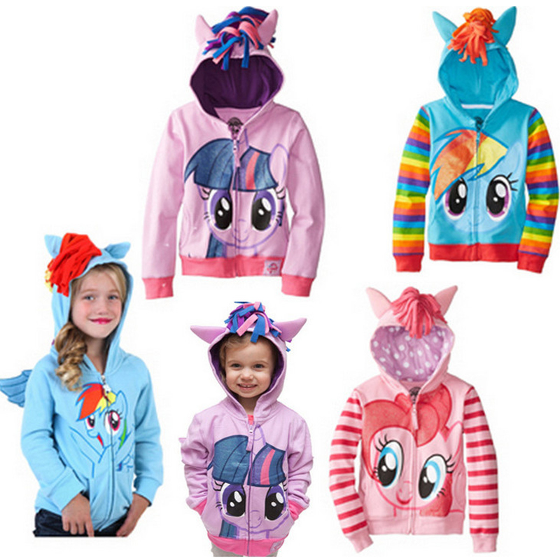 Ropa para niños Otoño e Invierno mujer niño dibujos animados cremallera loop pila prendas de vestir exteriores con capucha para niños
