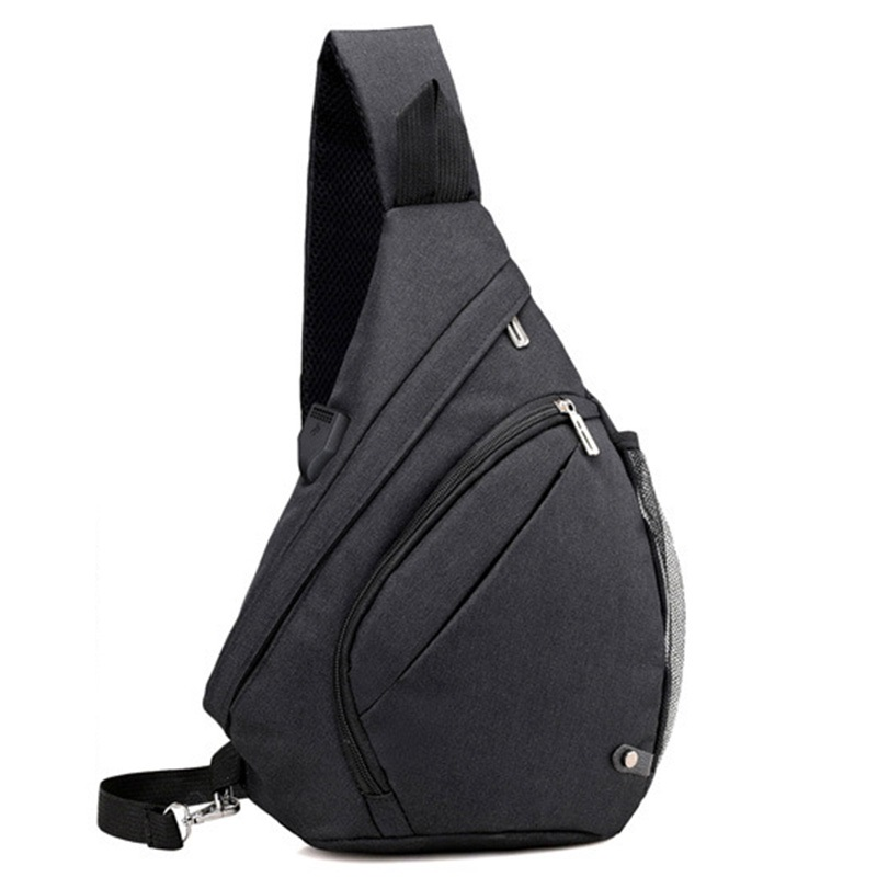 Fashion Men Backpacks USB Charging Backpack For Teenagers Boys School Bag For Male One Shoulder Crossbody Chest Rucksack Mochila