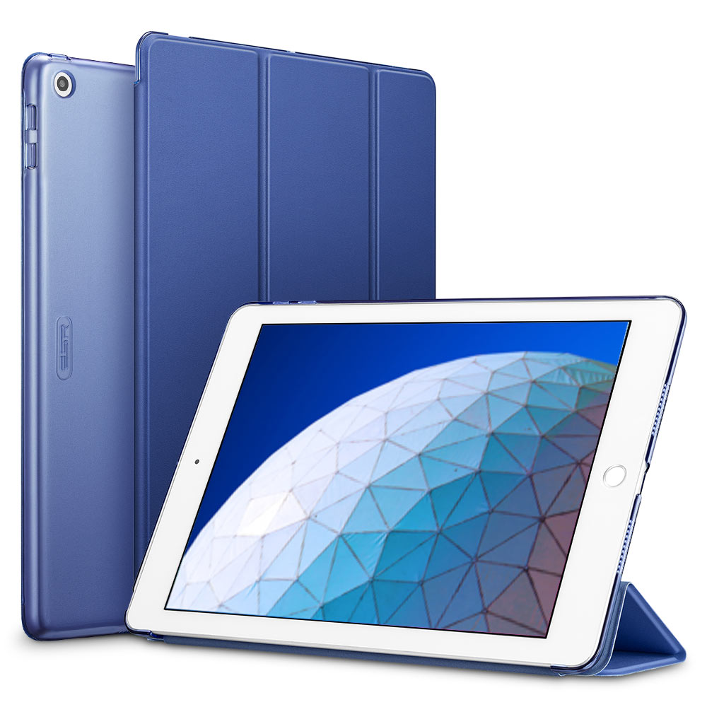 Blue ESR smart Case with Trifold Stand and Hard Back Cover for iPad Air 3 2019 (A2153, A2123, A2154, A2152)