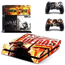 Tom Clancy's Rainbow Six Siege decal PS4 Skin Sticker For Sony Playstation 4 Console +2Pcs Controllers 6 pattern