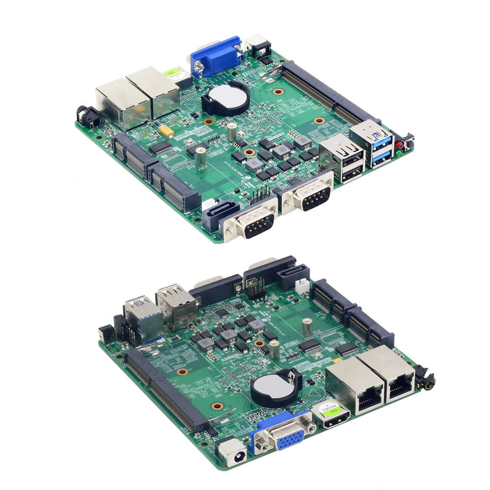 Безвентиляторный мини ПК Celeron N2810 двойной гигабитный LAN Windows 10 настольный компьютер ПК Celeron J1900 HDMI VGA wifi USB Mirco PC