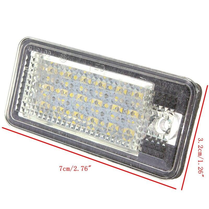 2 stücke 18 LED Lizenz Nummer Platte Licht Lampe für Audi A3 A4 A6 A8 B6 S3 Q7 RS4 RS auto Innen Lampe