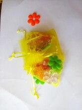 100 unids amarillo del regalo del organza bolsas 13×18 cm bolsos de fiesta para las mujeres evento casarse bolso de Lazo de Exhibición de La Joyería bolsa de Bolsa de accesorios de bricolaje