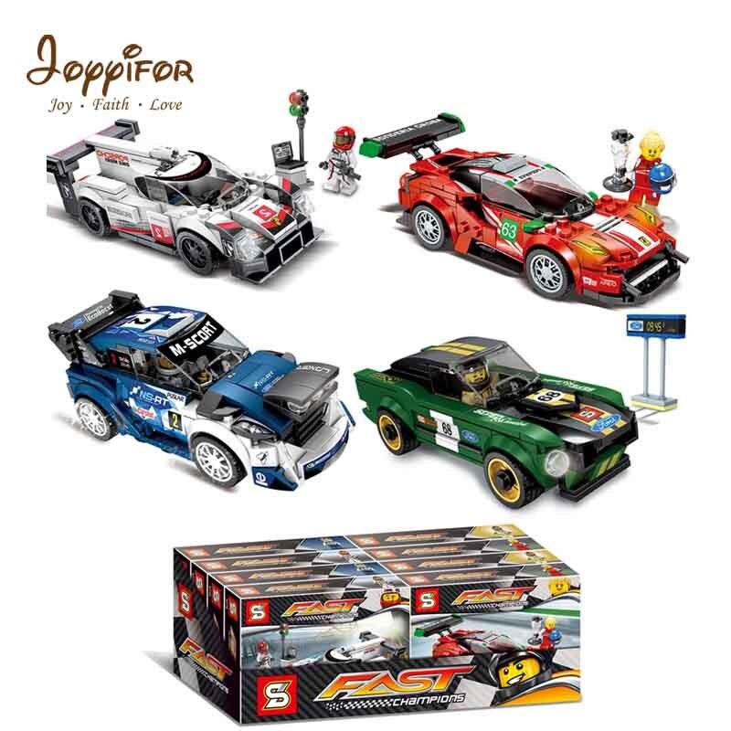 Joyyifor coche deportivo Porsche 919GT3 Ford Mustang modelo bloques Minifigur LegoINGlys niños juguetes para niños regalo