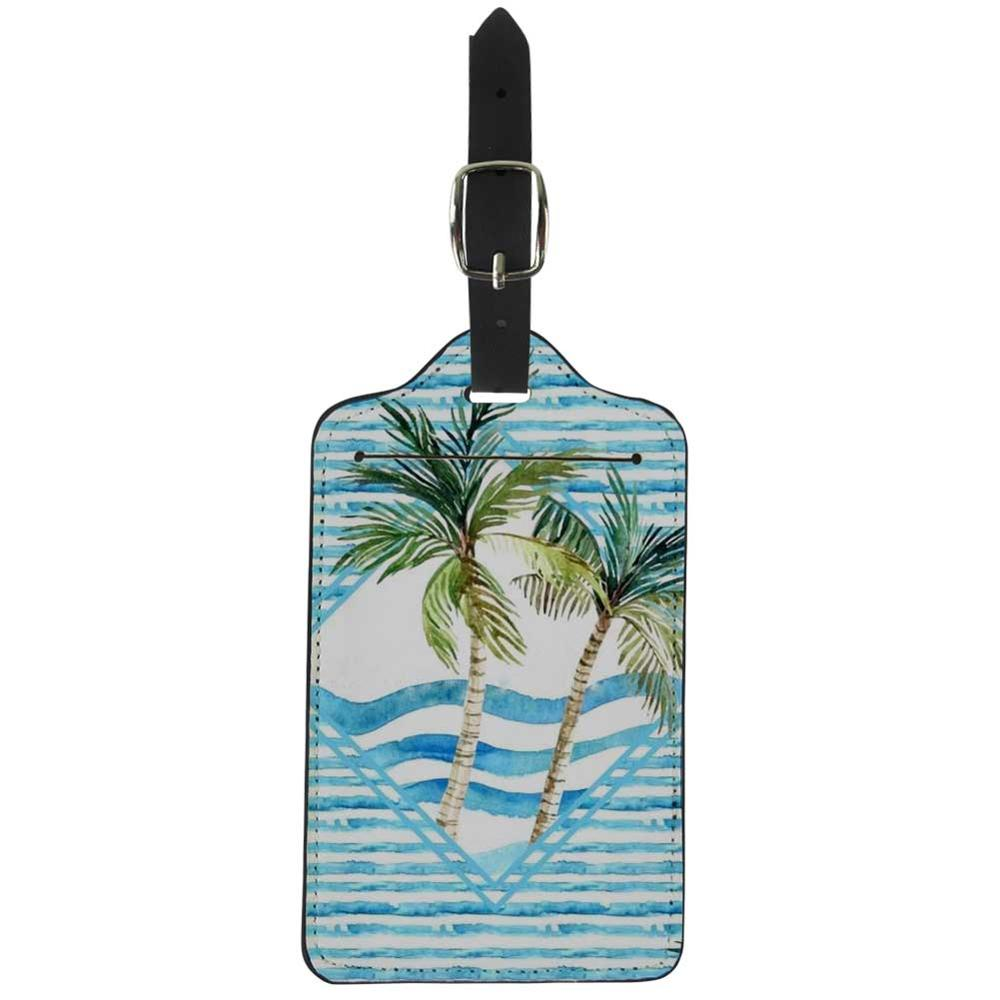 NOISYDESIGNS Cute Luggage Tag Baggage Boarding Tags Tropical Leaves Creative Suitcase Address Name Label Holder New Arrival