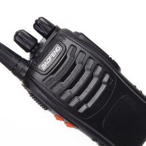 Image 4 - Baofeng Walkie Talkie BF 888S UHF, Radio bidireccional, BF888S, Radio de mano, transmisor 888S, transceptor + 4 auriculares