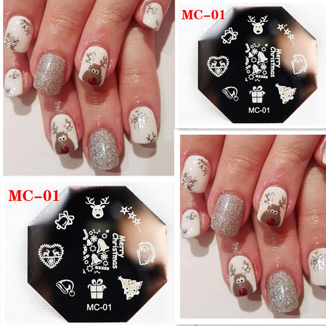 Christmas theme bell deer pattern nail art stamp diy painting christmas theme bell deer pattern nail art stamp diy painting stainless steel stamping plates manicure template prinsesfo Image collections