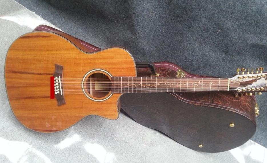 buy 2018 new factory 12 strings k24ce cutaway koa acoustic guitar 12. Black Bedroom Furniture Sets. Home Design Ideas
