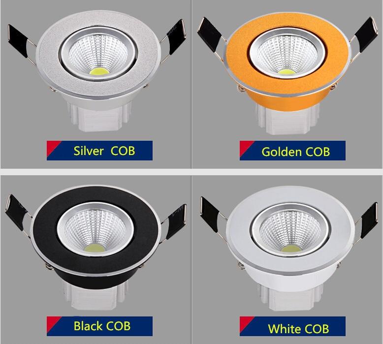 Downlights luz de teto regulável cob Material : Alumínio
