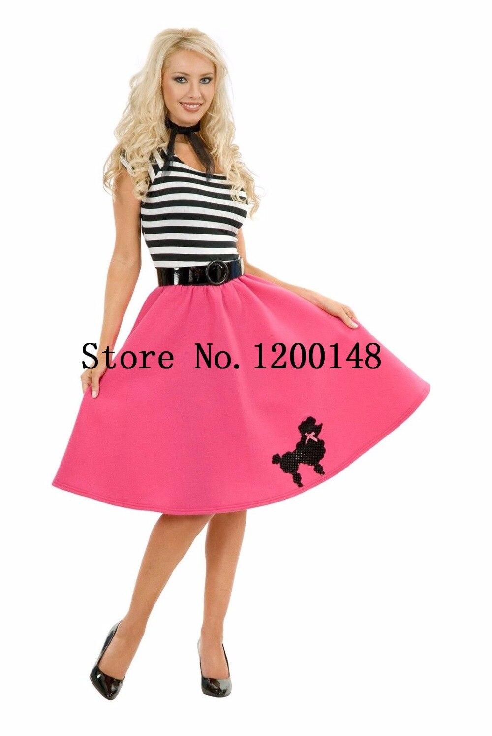 Mujeres 50\'s estilo lindo caniche falda grasa traje de la danza de ...