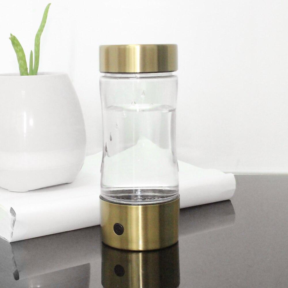 350ML Portable USB Hydrogen Water Generator Glass Bottle Healthy Hydrogen Rich Water Bottle High Borosilicate Glass