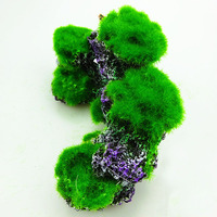 Aquarium Decoration Resin Moss Coral Reefs Fish Play Tree House Hole Cave Decor For Fish Tank