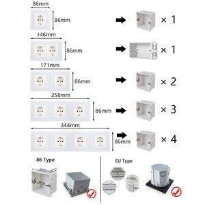 Image 3 - LED Licht 4 Kleur Schakelaar 1 2 3 4 Knop Wandschakelaar Luxe Crystal Glass Panel Switch Interruptor 16A Standaard