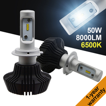 1 Set H7 50W 8000LM G7 LED Headlight Auto Kit LUXEON ZES LUMILED Chip 7th Fanless 6500K Super White Single Beam H8 H9 H11 9012