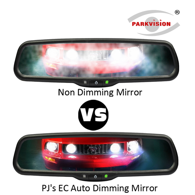 PARKVISION 4.3 Inch Auto Dimming Rearview Mirror LCD Car Mirror Monitor 1200cd/m2 Auto Brightness LCD Interior Replacement видеорегистратор parkvision pvr 17 казань