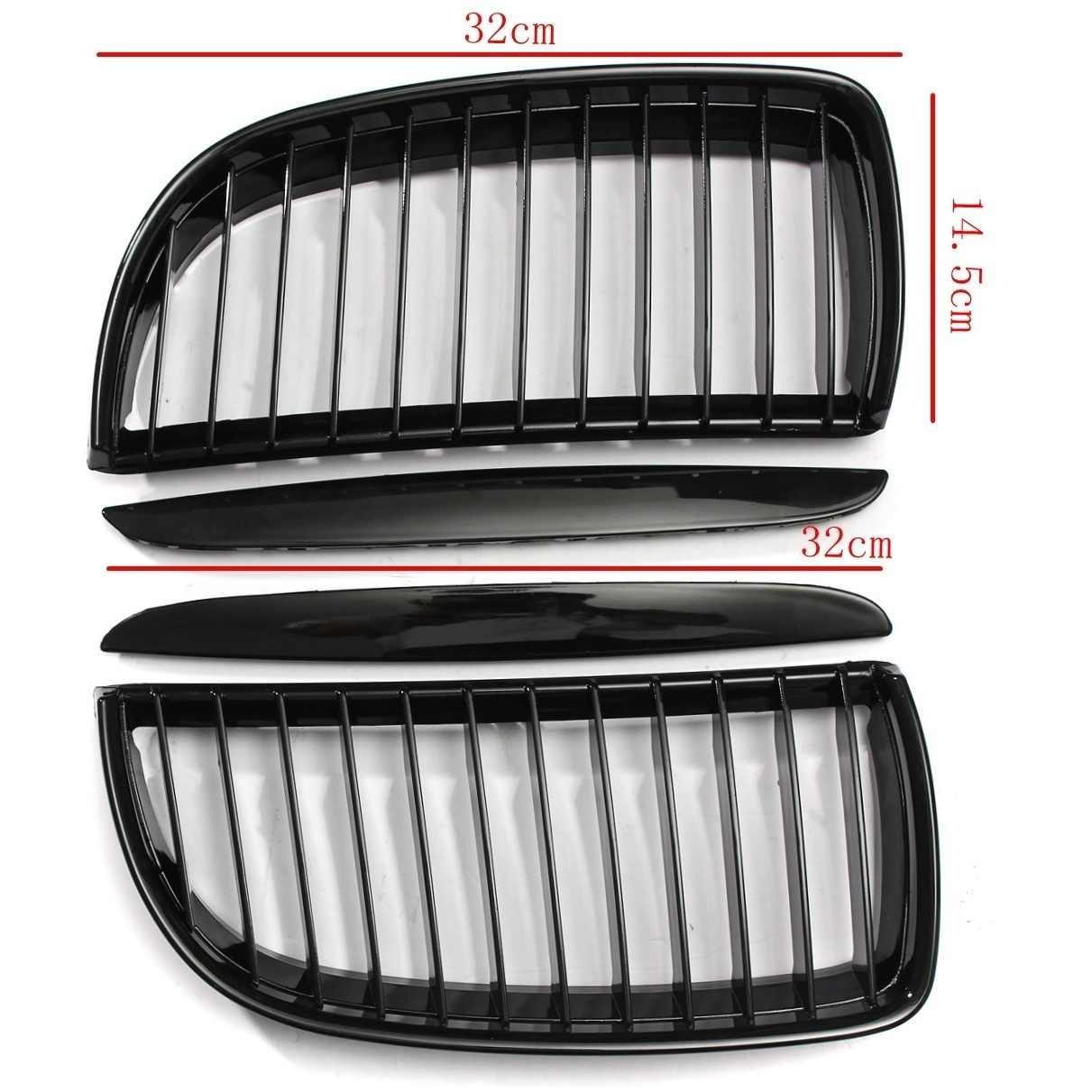 Di alta Qualità di Aspirazione griglia di Alta Qualità Muto black Front Rene Grill Griglie Per BMW E90 E91 2005-2008 Berlina 44