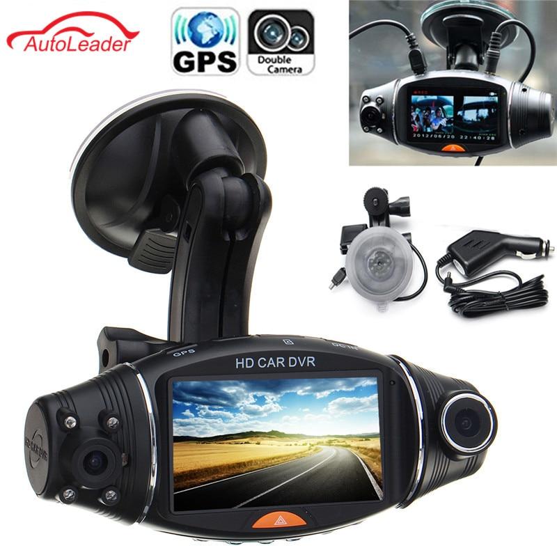 8Pcs 2.7Inch 1080P Car HD Dual Camera DVR Dash Cam Video Recorder GPS G-sensor Camcorder Kit gps навигатор lexand sa5 hd