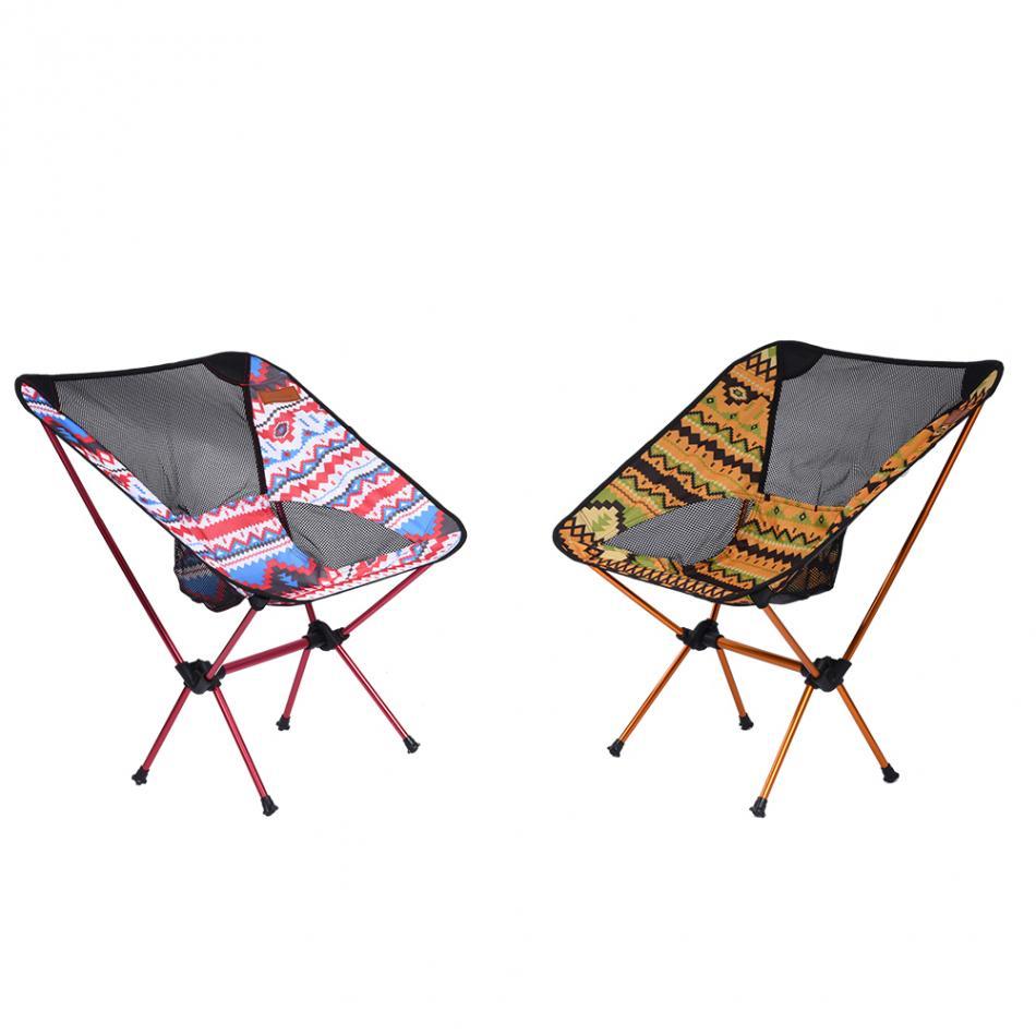 al aire libre ultraligero asiento taburete silla pesca silla plegable silla de playa con bolsa de