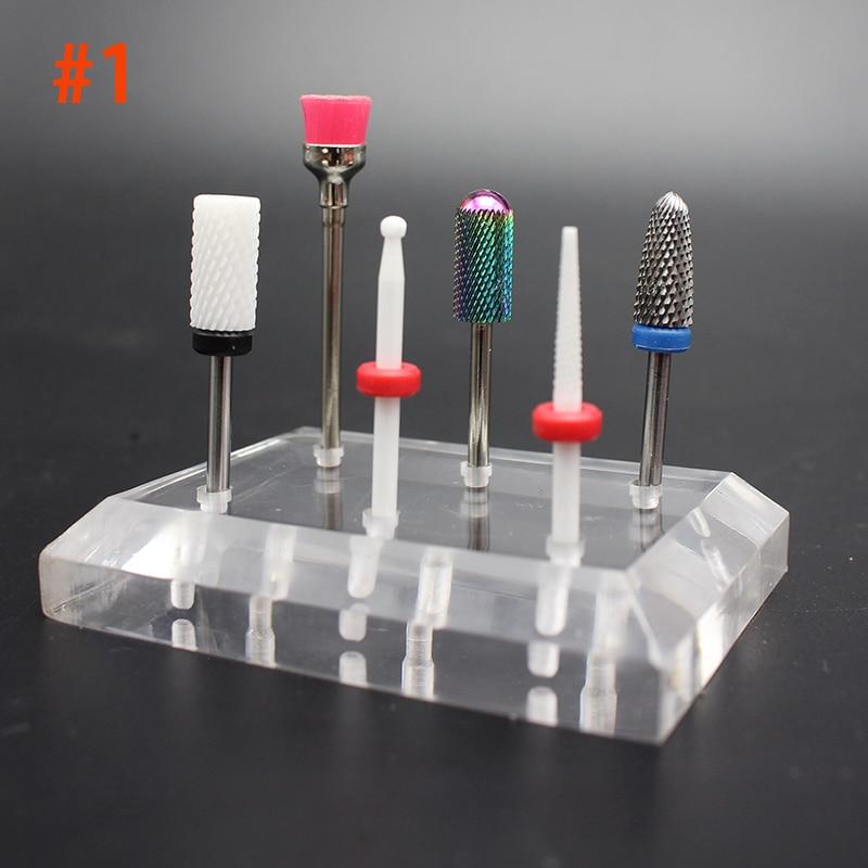 6pcs Nail Electric Drill Bits Kit Sanding Bands File Set Professional Filing Machine Pedicure Manicure Tools UV Gel Nail Remover