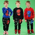 New Brand Autumn Boys Cartoon Solid Clothing Set Children Spider Man Printed Hoodies+Pants Anime 2 Pcs Kids Clothes Outerwear