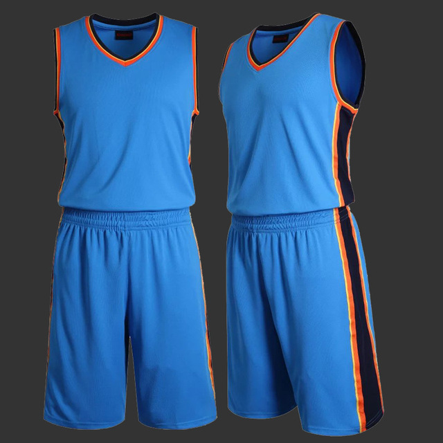 Milankerr Mens Blank Basketball Jersey Adults Sports Shirt Shorts Set Team Uniform Training Running Breathable Clothes Plus Size