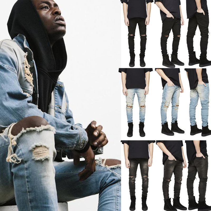 ITFABS Newest Hot Arrivals Fashion Mens Designed Straight Slim Fit Denim Jeans Trousers Casual Skinny Pants Street Clubwear