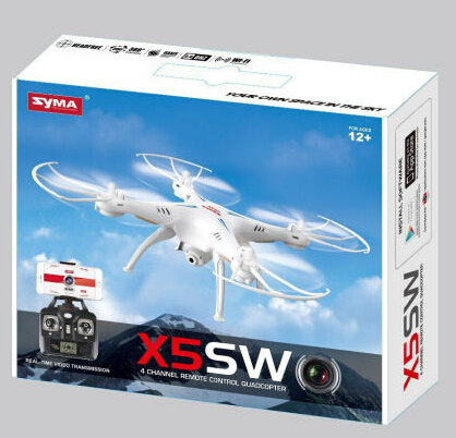 Original SYMA X5SW FPV 2.4G 4CH 6-Axis RC Quadcopter With 2MP WiFi Camera Real Time Video Drone with original box yizhan i8h 4axis professiona rc drone wifi fpv hd camera video remote control toys quadcopter helicopter aircraft plane toy