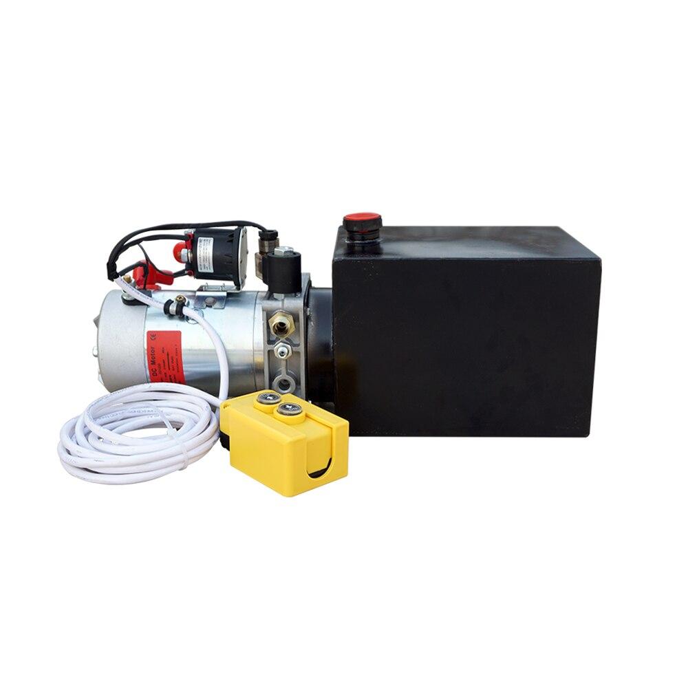 MAISON de CC De Haute Qualité Pompe Hydraulique À Simple effet 6L 12 v Remorque À Benne Basculante de 6 Pintes 3200 PSI Max