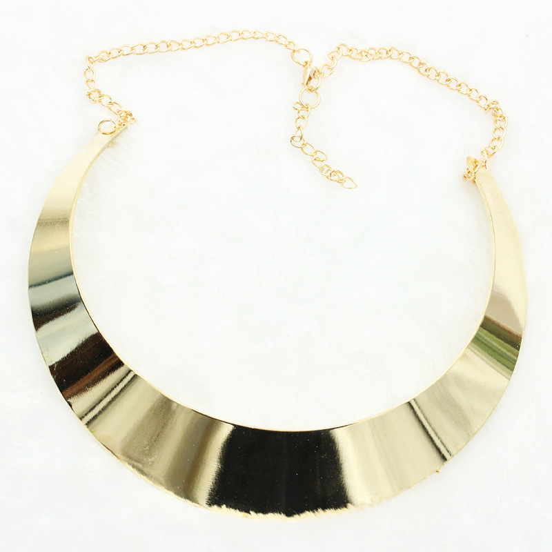 Vintage StyleGold Plated Choker Necklace Women Retro Statement Collar Necklace Jewelry