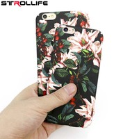 STROLLIFE Hot! Case For iPhone 7 Retro Flower Cherry Tree Hard PC Phone Cases Cover Back Case Coque For iPhone 7 6 6s Plus 5 5S
