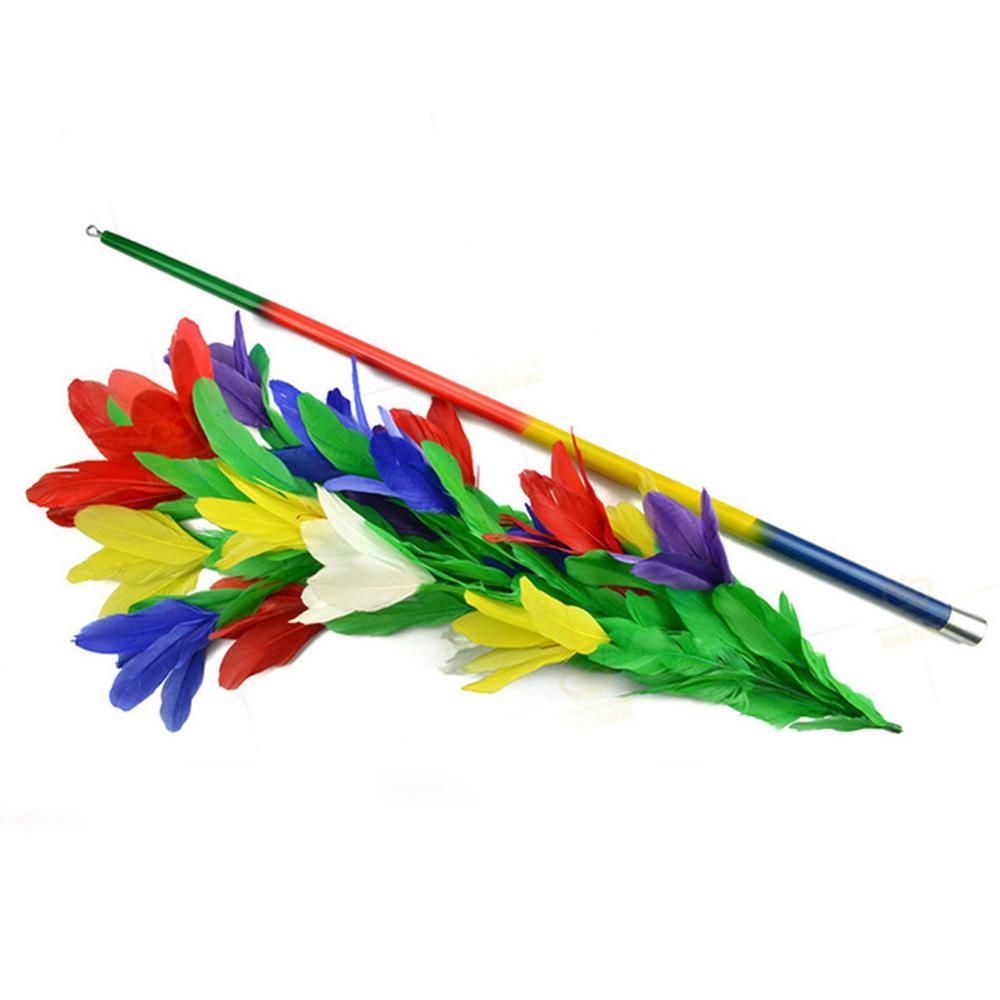 1 Set disparaître arc-en-ciel métal canne à fleurs tours de magie incroyable scène baguette magique montre des accessoires de Gimmick pour une utilisation magicienne