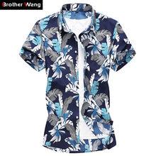 95898eb24f 2019 Nuovi Uomini di Estate Hawaiian Camicia a maniche corte Moda Casual  Floreale Grande Formato Camicia Maschile Vestiti di Mar.