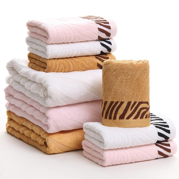 SunnyRain ensemble de 3 serviettes en Fiber de bambou Jacquard couleur unie serviette de bain pour adultes 420GMS