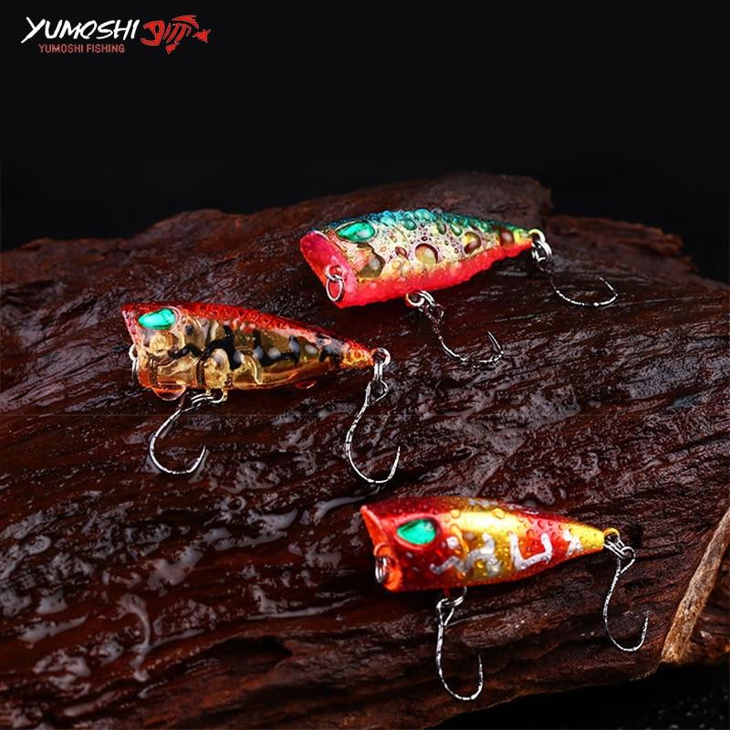 4cm 3g Casting Artificial Hard Bait Poper señuelo de pesca 10 - Pescando