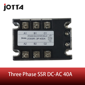 цена на 40A DC control AC three phase Solid state relay SSR ac three
