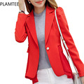 Hot Sale Simple Women's Office Blazers Slim Long Sleeved Female Jacquard Blazer Fashion 2017 Spring OL Blazers Femme All Match