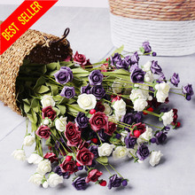 10 Heads/bouquet Silk Simulation Roses Fake Flowers Artificial Flower Home Party Wedding Decor