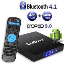 Android TV Box 9.0, 4GB+64GB Leelbox Q4 max RK3328 Quad Core Smart Support USB 3.0/BT 4.1/2.4GHz WiFi/3D/4K/H.265