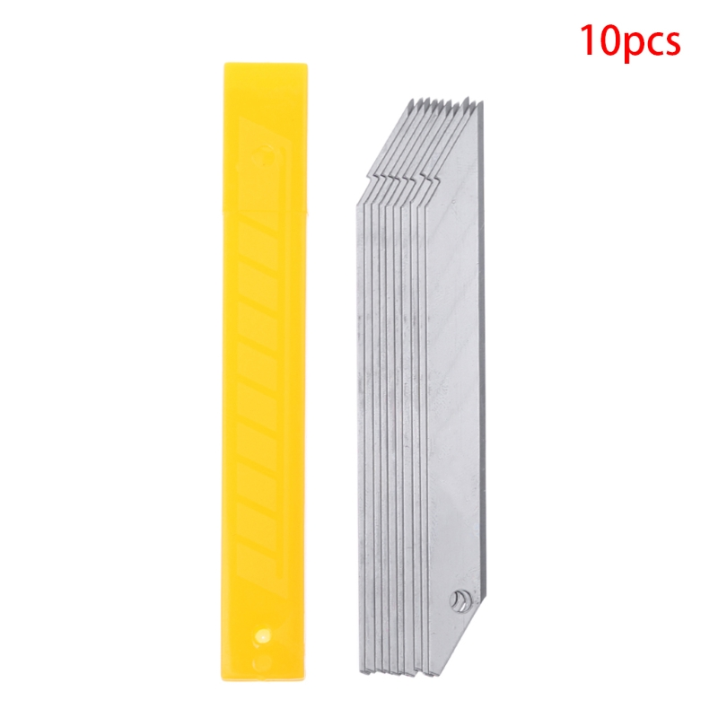 10Pcs/Box 30 Degrees Blade Trimmer Sculpture Blade Utility Knife Stainless Steel