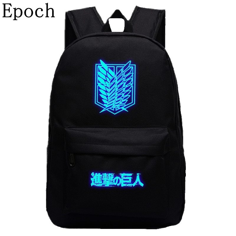 Epoch 2016 Attack on Titan Bag Japan Anime Printing Backpacks For Teenagers School Flash Backpack Fans Best Collection Souvenirs japan anime cardcaptor sakura backpack school bag shoulder bag printing pink backpack