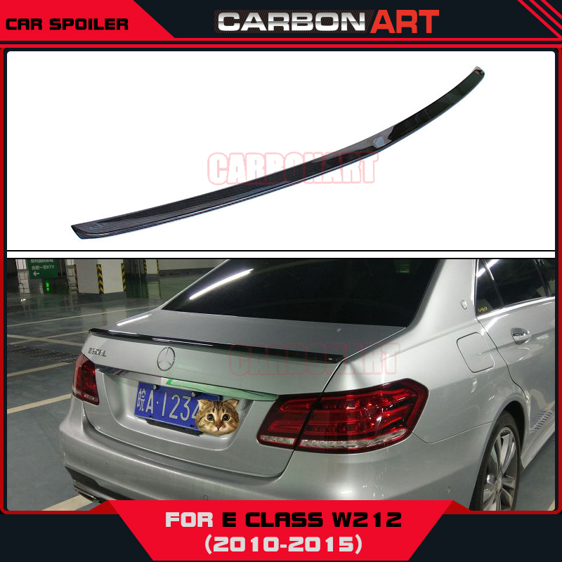 AM-G style glossy black color Mercedes W212 carbon rear spoiler trunk spoiler For mercedes E class W212 2010+ mercedes w212 car styling carbon fiber replacement spoiler for benz e class w212 amg style 2010 rear trunk tail spoiler wing