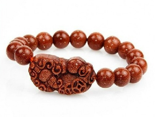 Goldstone Pixiu Charm Bracelets For Good Luck Pi Yao Wealth Meaning Chinese Jewelry Feng Shui Beads