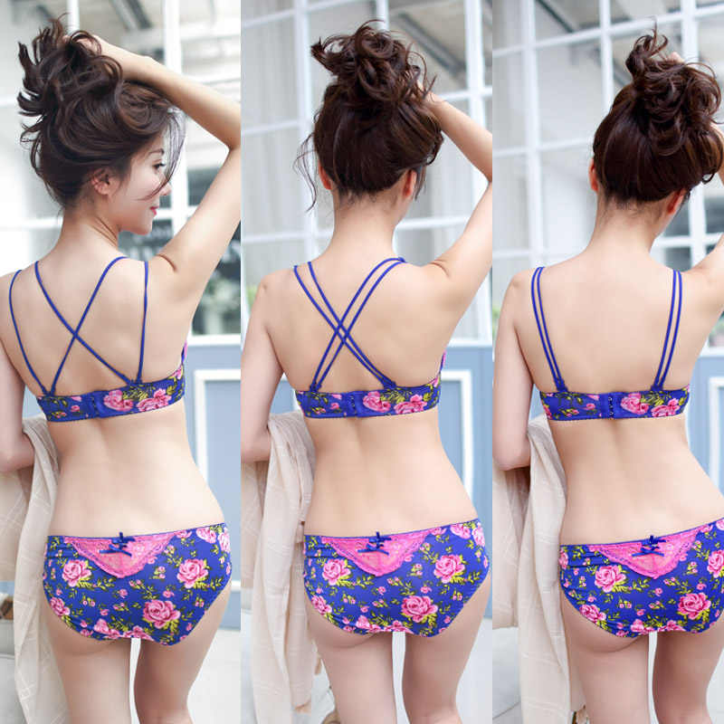 07b586f826c65 ... 2019 Hot Sale Women Underwear Floral Lace Bra Brief Sets Sexy Lovely  Young Girl Brand Embroidery ...