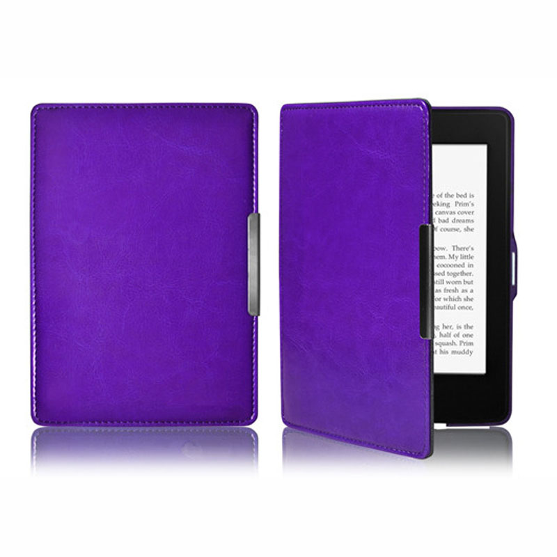 Fashion case for tablet anti-dust kindle paperwhite tablet cover Folding Folio Case Leather Smart Case Cover For New Amazon Kind