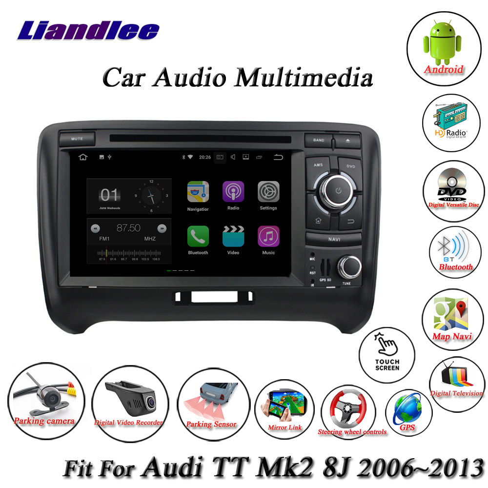 Système Android de voiture Liandlee pour Audi TT Mk2 8J 2006 ~ 2013 lecteur Radio CD DVD GPS carte Navigation Navi BT écran TV multimédia