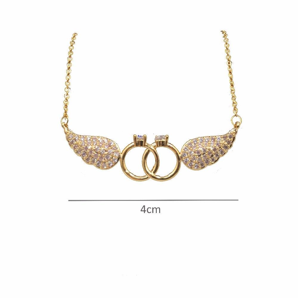 HADIYANA Κυβικά ζιργκόν φτερά σχήμα - Κοσμήματα μόδας - Φωτογραφία 3