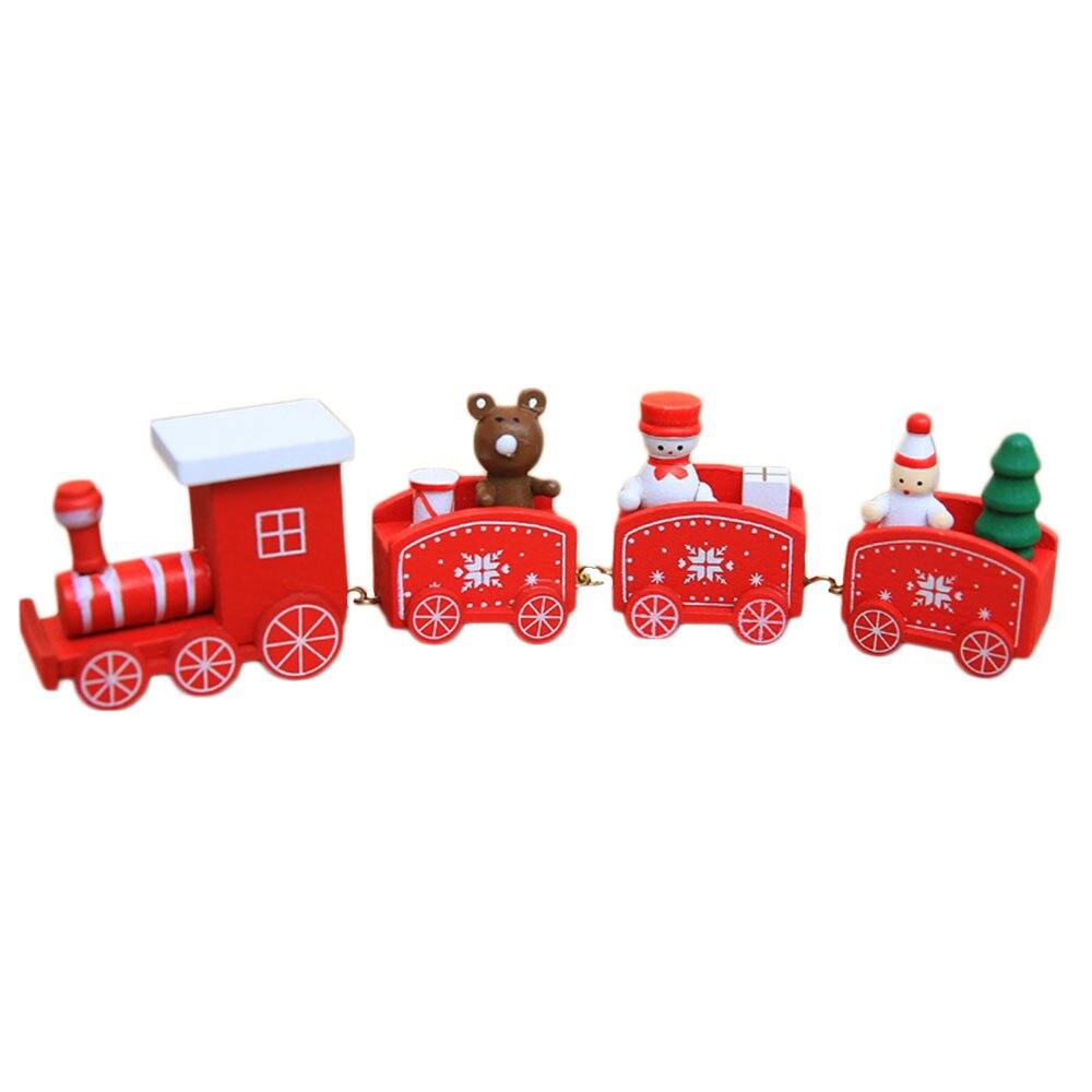 Xmas поезд орнамент Рождество Аксессуары для дома Санта Клаус Рождество дерево Аксессуары деревянный Noel Navidad милый Настольный kerst